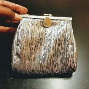 "Vintage | Silver Clasp Clutch Bag (5.5"" x 6"")"
